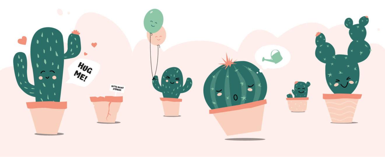 Header Kaktus im Kopf Kakteen