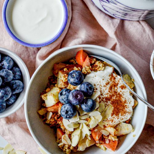 Rezept Apple Crumble mit Zimtjoghurt